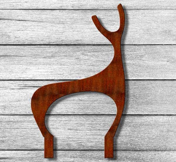 Deer Garden Sculpture crafted from rusted steel