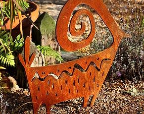 di Cabra, contemporary metal garden sculptures