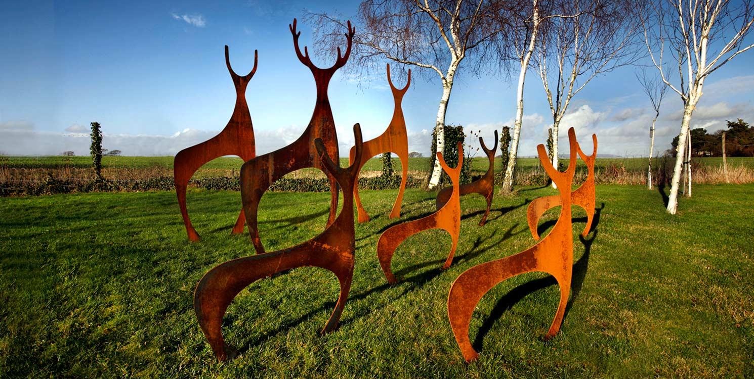 Garden Art Sculpture Photograph metal Deer garden scul
