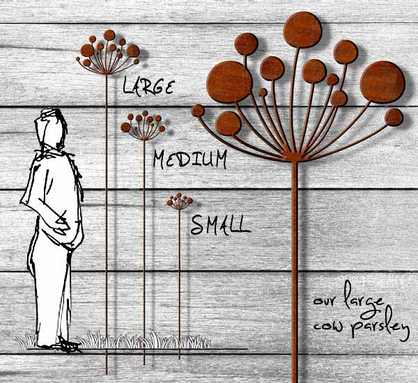 ... Metal Our Largest Cow Parsley Rusted Garden Sculpture ...