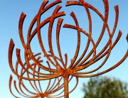 Seedhead Sculpture by Garden Art and Sculpture