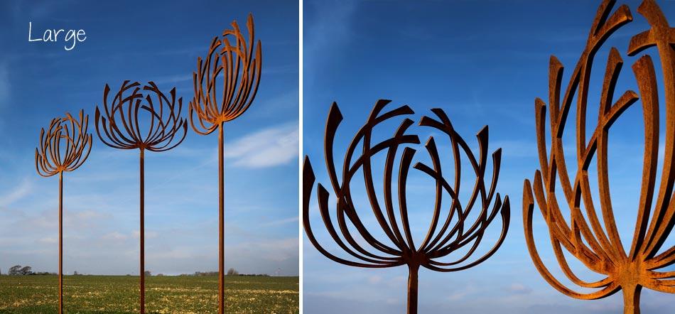Contemporary garden sculptures