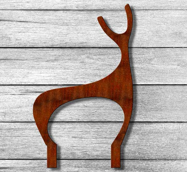 Deer Garden Sculpture crafted from rusted steel