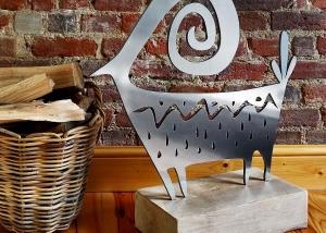 di Cabra steel sculpture for the home, conservatory, patio, garden