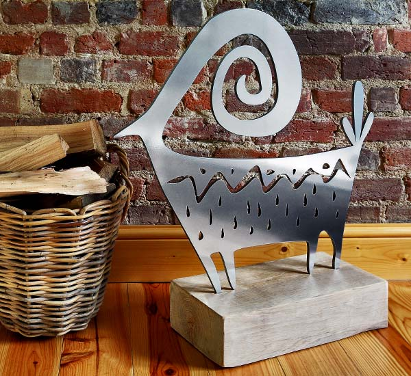di Cabra steel sculpture for the home, conservatory, patio, garden