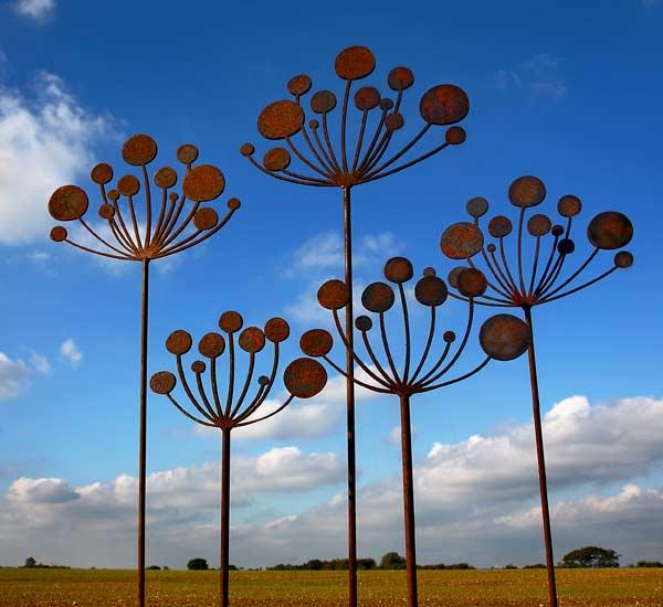 Cow Parsley Metal Garden Sculpture Garden Sculptures