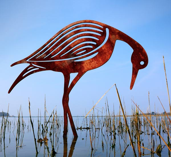 Contemporary Bird Sculpture Garden Pond Sculptures