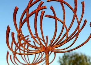Seedhead Sculpture by Garden Art and Sculpture