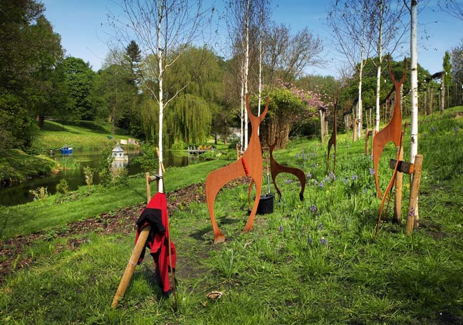Sculpture Exhibition at West Lavington Manor, Wiltshire
