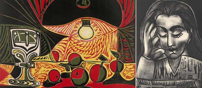 Picasso lithographs at cooper gallery barnsley