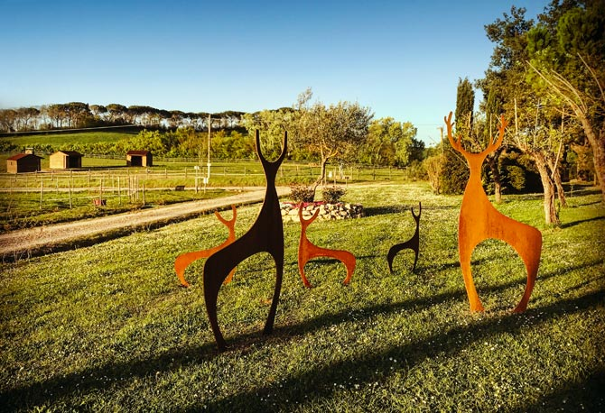 Metal Deer Sculpture in Italy