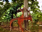 bothy vineyard deer sculptures