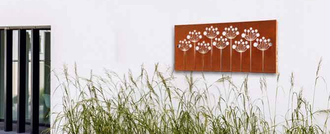 Laser cut Corten Steel Garden Screens