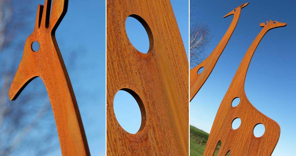 Contemporary metal garden art by Garden art and Sculpture