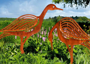 Metal Bird Sculptures Ornaments for the garden