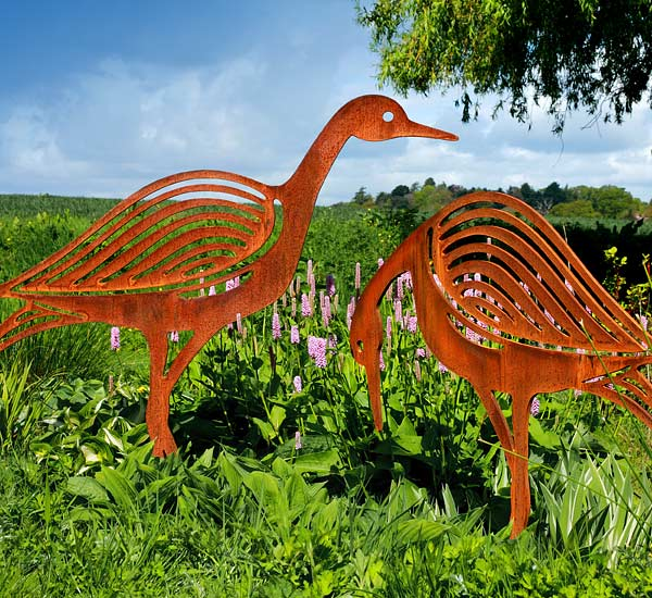 Sandpiper Metal Bird Sculptures Ornamnets for the garden