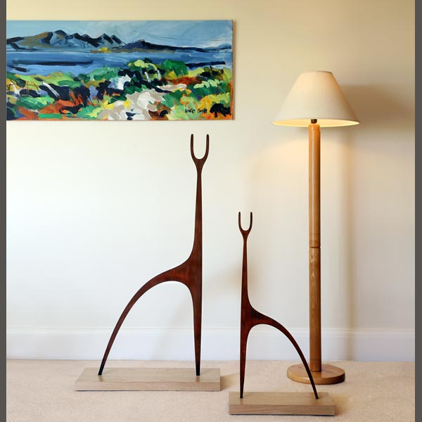 Contemporary metal Deer garden sculptures by Garden Art and Sculpture