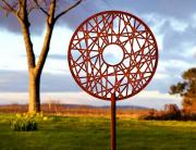 contemporary metal garden sculpture