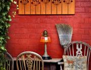 garden screen / wall art made rom corten steel with a rust finish