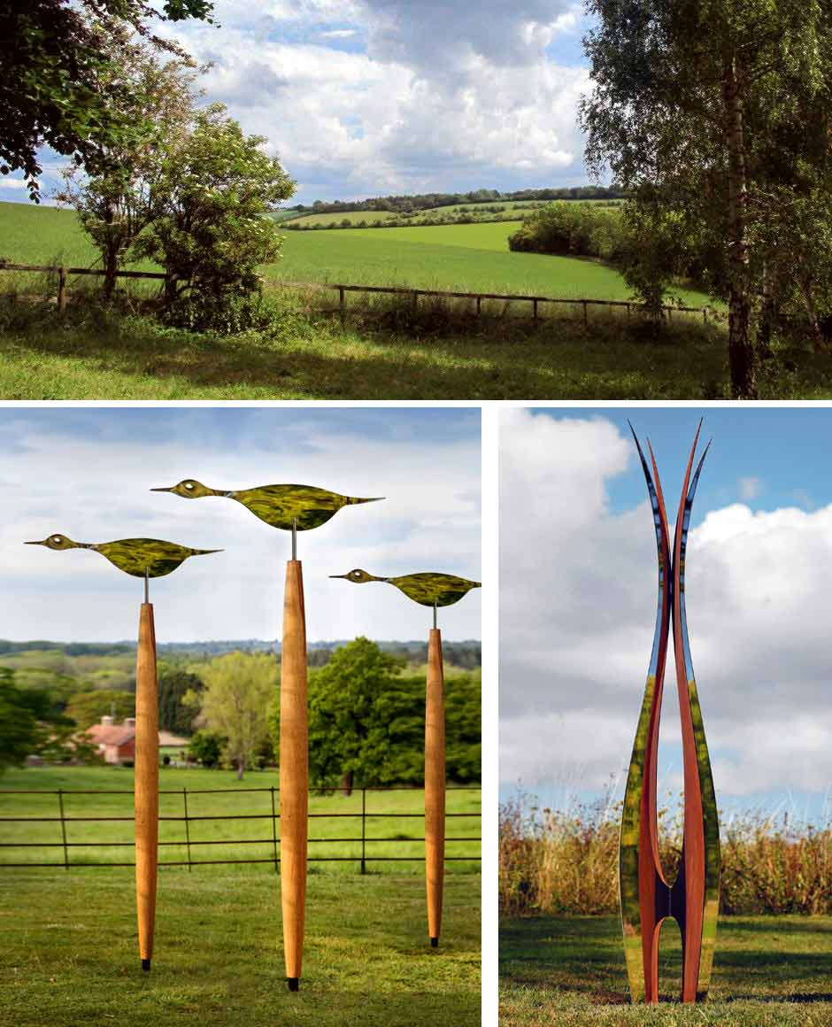 West Leaze contemporary sculpture by simon hempsell