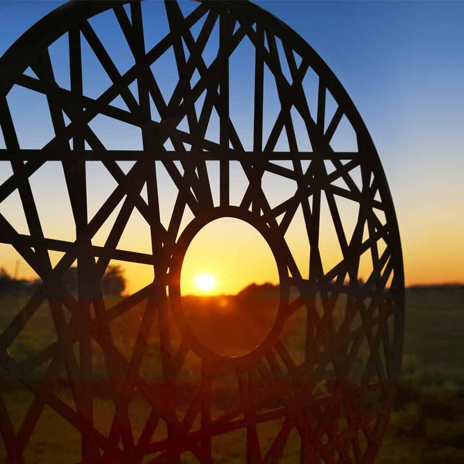 metal sculpture a contemporary design by garden art and sculpture